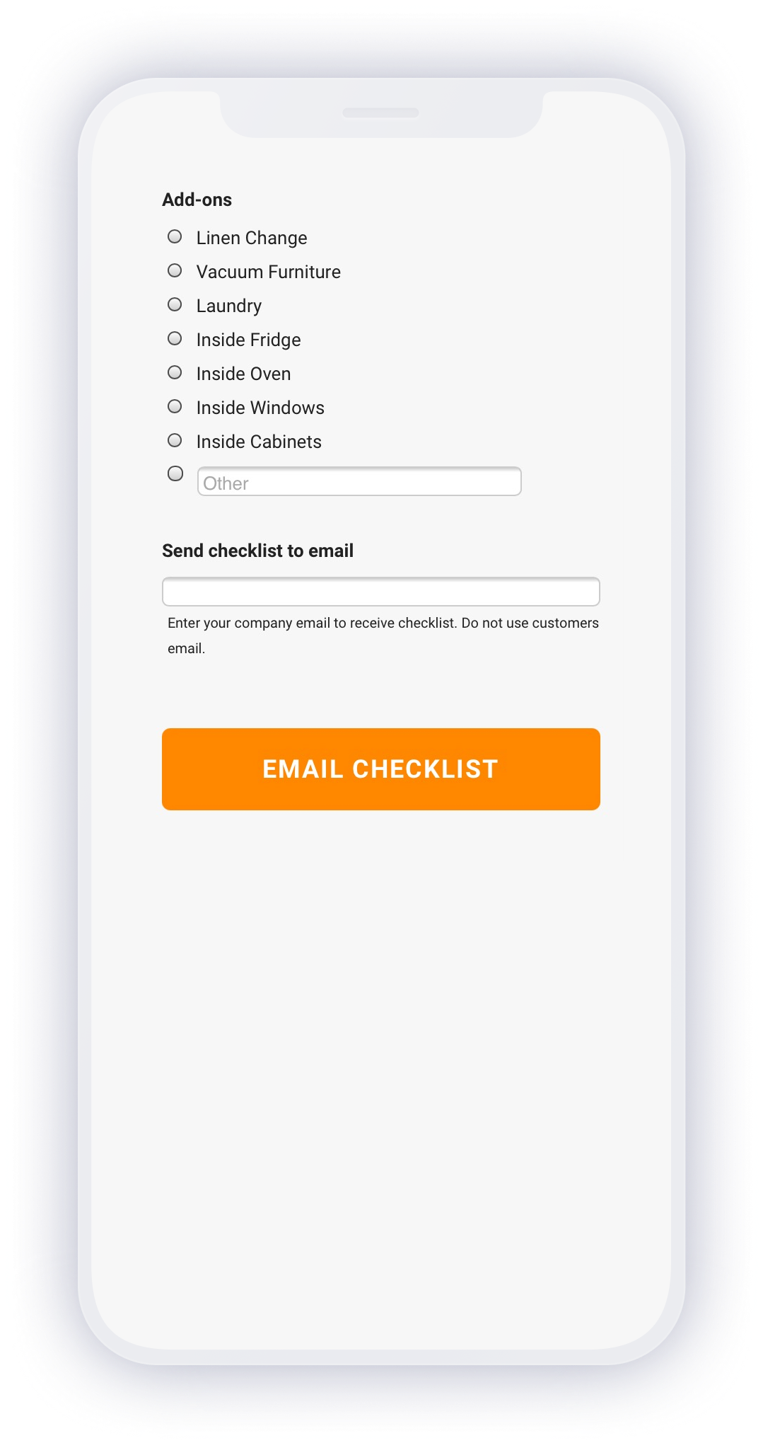 House Cleaning Checklist App Email